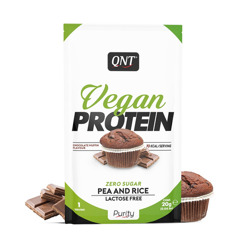 Qnt Vegan Protein Powder Chocolate Muffin Single Dose 20gr