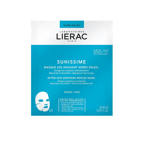 Lierac Sunissime After Sun Soothing Rescue Mask Cryo Effect Technology - Μάσκα Άμεσης Καταπράυνσης για Μετά τον Ήλιο 18ml