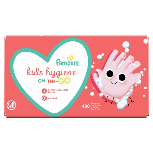 Pampers Kids Hygiene Wipes Box Μωρομάντηλα On-The-Go 12 x 40τμχ