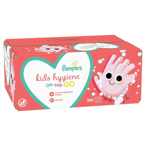 Pampers Kids Hygiene Wipes Box Μωρομάντηλα On-The-Go 9 x 40τμχ