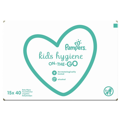 Pampers Kids Hygiene Wipes E-Box Μωρομάντηλα On-The-Go 15 x 40τμχ