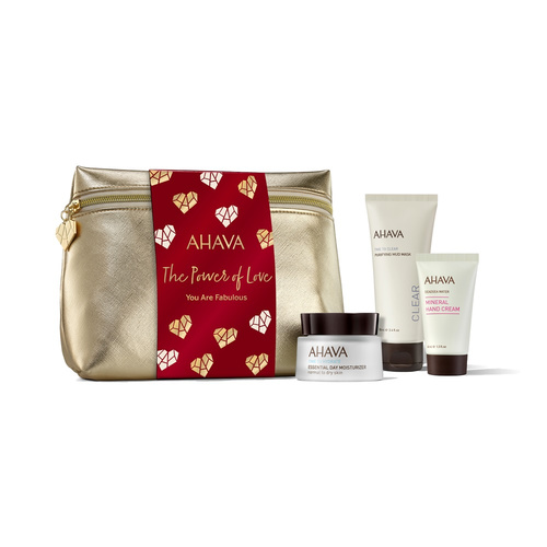 Ahava Promo Everyday Mineral Essentials - Essential Day Moisturizer 50ml & Purifying Mud Mask 100ml & Mineral Hand Cream 40ml