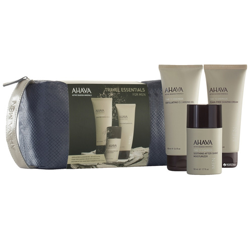 Ahava Promo Men Travel - Exfoliating Cleansing Gel 100ml & Shaving Cream 100ml & After-Shave Moisturizer 50ml