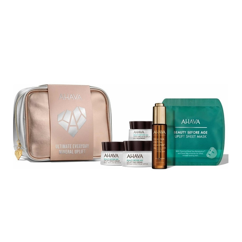 Ahava Promo Ultimate Everyday Mineral Uplift - Day Cream SPF20 50ml & Night Cream 50ml & Dark Circles & Eye Treatment 15ml & Dead Sea Facial Serum 30ml & Sheet Mask 17gr