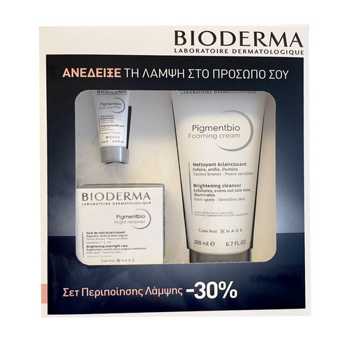Bioderma Promo Pigmentbio Night Renewer Κρέμα Νύχτας 50ml & Foaming Cream Brightening Cleanser 200ml & Δώρο Daily Care SPF50+ Mini Size 5ml